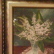 Картины и панно ручной работы. Ярмарка Мастеров - ручная работа Ландыши. Handmade.
