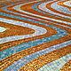 Абстракция ручной работы. Ярмарка Мастеров - ручная работа. Купить Волны (мозаичный декор). Handmade. Золотой, панно, золотой цвет