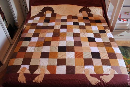 Абстракция ручной работы. Ярмарка Мастеров - ручная работа. Купить Лоскутное одеяло / покрывало  « Турнир» № 394. Handmade.