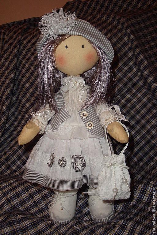 Коллекционные куклы ручной работы. Ярмарка Мастеров - ручная работа. Купить Текстильная кукла Бланка. Handmade. Белый, кукла в подарок