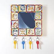 Для дома и интерьера handmade. Livemaster - original item Key holder wall-mounted with mirror