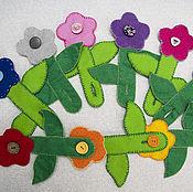 Куклы и игрушки ручной работы. Ярмарка Мастеров - ручная работа Цветочки Развивающая игрушка для мелкой моторики. Handmade.