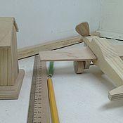 Куклы и игрушки ручной работы. Ярмарка Мастеров - ручная работа Деревянный самолётик №1. Handmade.