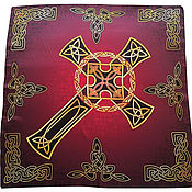 Фен-шуй и эзотерика handmade. Livemaster - original item Handkerchief Shawl Cape Celtic cross Strength and power. Handmade.