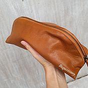 Сумки и аксессуары handmade. Livemaster - original item Cosmetic bag genuine leather. Handmade.