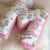 Подушки ручной работы. Ярмарка Мастеров - ручная работа Именная буква подушка для девочки, подушка звезда, облако. Handmade.