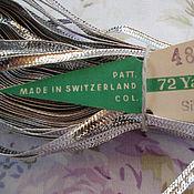 Тесьмы ручной работы. Ярмарка Мастеров - ручная работа Антикварная металлизированная лента тесьма, цена за 9 см. Handmade.