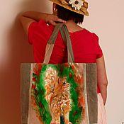 Сумка-мешок ручной работы. Ярмарка Мастеров - ручная работа Сумка-мешок: Рыжий кот. Handmade.