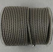 Материалы для творчества handmade. Livemaster - original item 50 cm Cord leather braided GRAY 3 mm (art. 2810). Handmade.