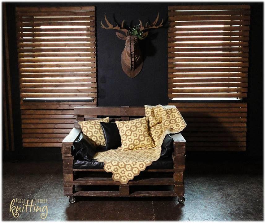 Knitted set ' Sand ', Blankets, Izhevsk,  Фото №1