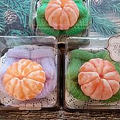 Косметика ручной работы handmade. Livemaster - original item soap: I give you a tangerine. Handmade.
