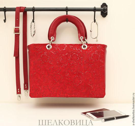 Женские сумки ручной работы. Ярмарка Мастеров - ручная работа. Купить Сумка по мотивам Lady Dior. Handmade. Бордовый