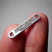 Материалы для творчества handmade. Livemaster - original item Accessories: Metal tags with Your logo. Handmade.