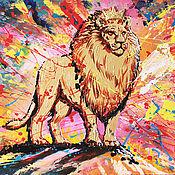 Картины и панно handmade. Livemaster - original item Painting with a lion