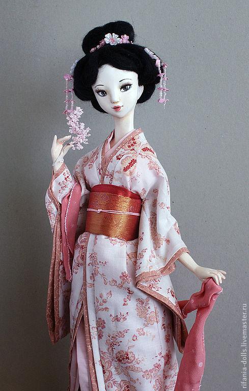Коллекционные куклы ручной работы. Ярмарка Мастеров - ручная работа. Купить Асами. Handmade. Япония, розовый, бусинки