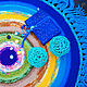 """Текстиль, ковры ручной работы. Ярмарка Мастеров - ручная работа. Купить Коврик """"Просто космос!"""". Handmade. Космос, вязаный крючком"""