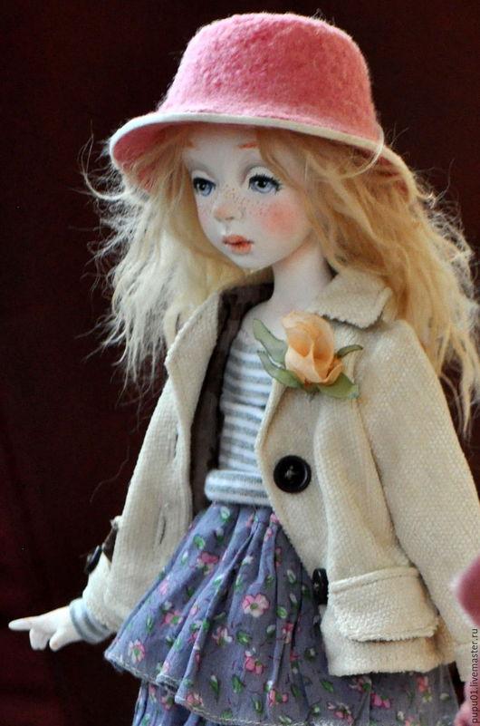 Коллекционные куклы ручной работы. Ярмарка Мастеров - ручная работа. Купить Коллекционная кукла Ариша. Handmade. Бледно-сиреневый
