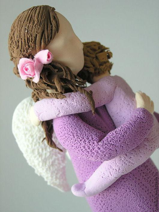 """Миниатюра ручной работы. Ярмарка Мастеров - ручная работа. Купить Ангел """"Мама"""". Handmade. Фиолетовый, мать и дитя"""