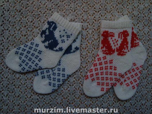 """Носки, гольфы, гетры ручной работы. Ярмарка Мастеров - ручная работа. Купить Носки детские """"Зоосад"""" (из натуральной шерсти). Handmade."""