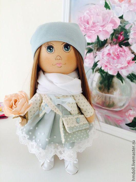 Коллекционные куклы ручной работы. Ярмарка Мастеров - ручная работа. Купить Кэтти. Интерьерная кукла. Handmade. Голубой, интерьерные куклы