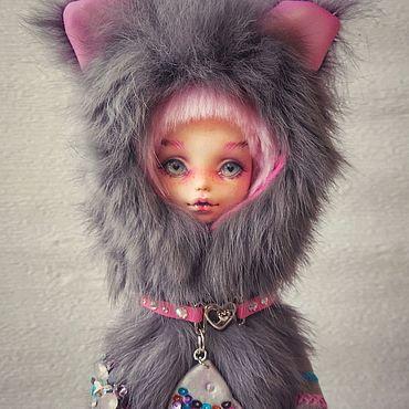 Куклы и игрушки ручной работы. Ярмарка Мастеров - ручная работа ООАК. Котёнок. Авторская шарнирная кукла.. Handmade.
