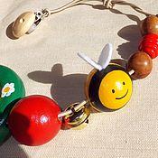 Куклы и игрушки handmade. Livemaster - original item Stretching on cot, stroller Thick Bee wooden toy. Handmade.