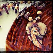 """Украшения ручной работы. Ярмарка Мастеров - ручная работа Кулон """"Жираф"""". Handmade."""