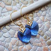 Украшения handmade. Livemaster - original item Heart earrings-mineski. Handmade.
