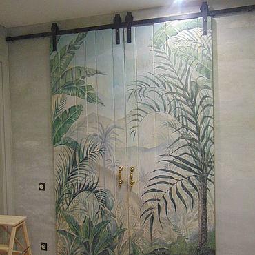 Для дома и интерьера ручной работы. Ярмарка Мастеров - ручная работа Двери: Амбарная дверь. Handmade.