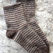 Аксессуары ручной работы. Ярмарка Мастеров - ручная работа Носки вязанные, шерстяные носки, носки ручная вязка, носки в подарок. Handmade.