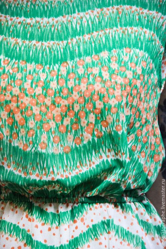 Цветы из ткани на платье