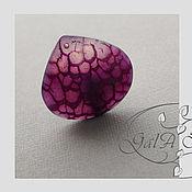 Материалы для творчества ручной работы. Ярмарка Мастеров - ручная работа Агат фиолетовый натуральный тонированный 444. Handmade.