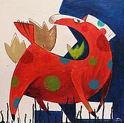 """Картины и панно ручной работы. Ярмарка Мастеров - ручная работа Картина маслом """"Гуляние красного коня"""". Handmade."""