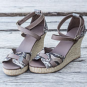 Обувь ручной работы handmade. Livemaster - original item Women`s sandals made of genuine Python leather Vicky . Leather shoes. Handmade.