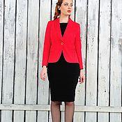 Одежда ручной работы. Ярмарка Мастеров - ручная работа Красный жакет №521. Handmade.