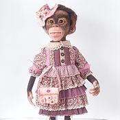 Куклы и игрушки ручной работы. Ярмарка Мастеров - ручная работа Обезьянка валяная Маргоша. Handmade.