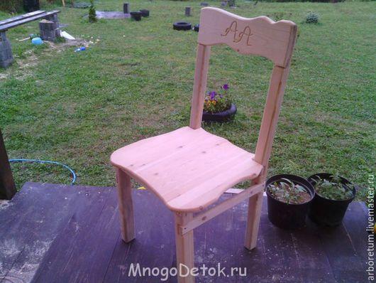 Мебель ручной работы. Ярмарка Мастеров - ручная работа. Купить Стул простой с инициалами. Handmade. Стул, стул деревянный