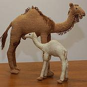 Куклы и игрушки ручной работы. Ярмарка Мастеров - ручная работа Верблюдица с верблюжонком. Handmade.