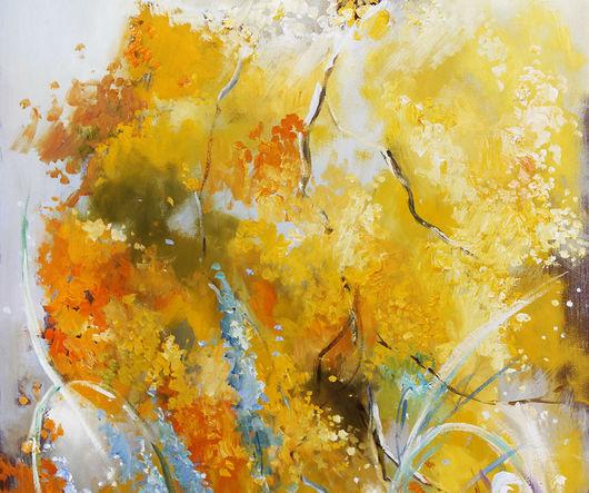 Картины цветов ручной работы. Ярмарка Мастеров - ручная работа. Купить Весна в цвете Mimosa. Handmade. Желтый, картина мимоза