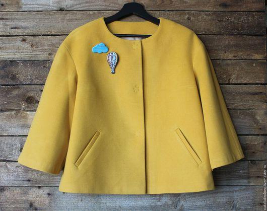 """Пиджаки, жакеты ручной работы. Ярмарка Мастеров - ручная работа. Купить Жакет """"Солнечное настроение"""". Handmade. Желтый, одежда для женщин"""
