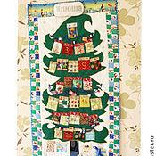 """Для дома и интерьера ручной работы. Ярмарка Мастеров - ручная работа Новогоднее панно с кармашками в морском стиле, именное""""Елочка"""" -6. Handmade."""