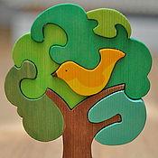 """Куклы и игрушки ручной работы. Ярмарка Мастеров - ручная работа Пазл """"Дерево с птичкой"""". Handmade."""