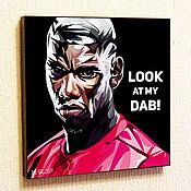 Картины и панно handmade. Livemaster - original item Painting Poster Pop Art Paul Pogba. Handmade.