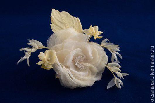 """Цветы ручной работы. Ярмарка Мастеров - ручная работа. Купить Цветы из ткани. Роза """"Ямайка"""". Handmade. Лимонный, цветы из ткани"""