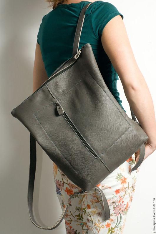 Рюкзаки ручной работы. Ярмарка Мастеров - ручная работа. Купить Рюкзак городской из натуральной кожи #15.07.16. Handmade.