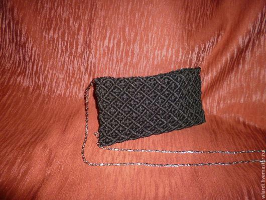 Женские сумки ручной работы. Ярмарка Мастеров - ручная работа. Купить Клатч  Макраме вязаный. Handmade. Однотонный, шнур синтетический