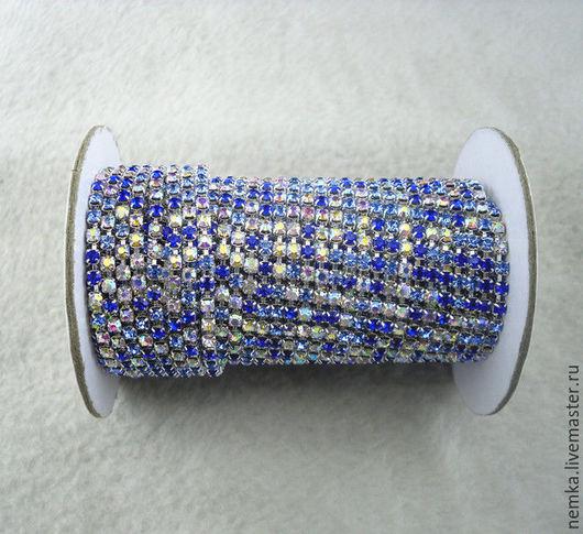 Для украшений ручной работы. Ярмарка Мастеров - ручная работа. Купить Густая стразовая лента-2,8 мм. Handmade.
