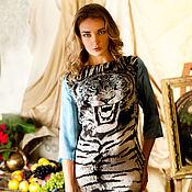 Одежда ручной работы. Ярмарка Мастеров - ручная работа Взгляд Тигра (платье). Handmade.