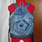 """Рюкзаки ручной работы. Ярмарка Мастеров - ручная работа Рюкзак- торба """" Crazy denim"""". Handmade."""