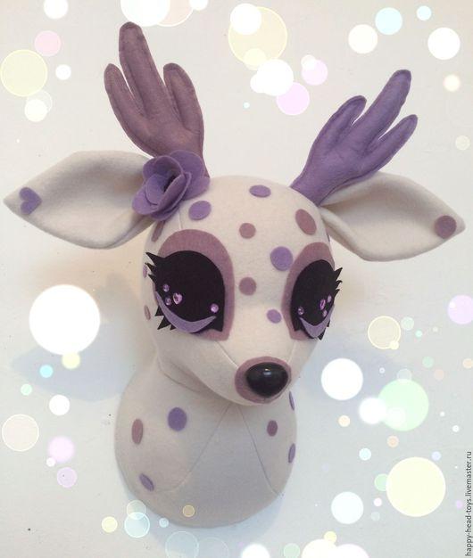 Игрушки животные, ручной работы. Ярмарка Мастеров - ручная работа. Купить Интерьерная игрушка на стену – оленёнок. Handmade.
